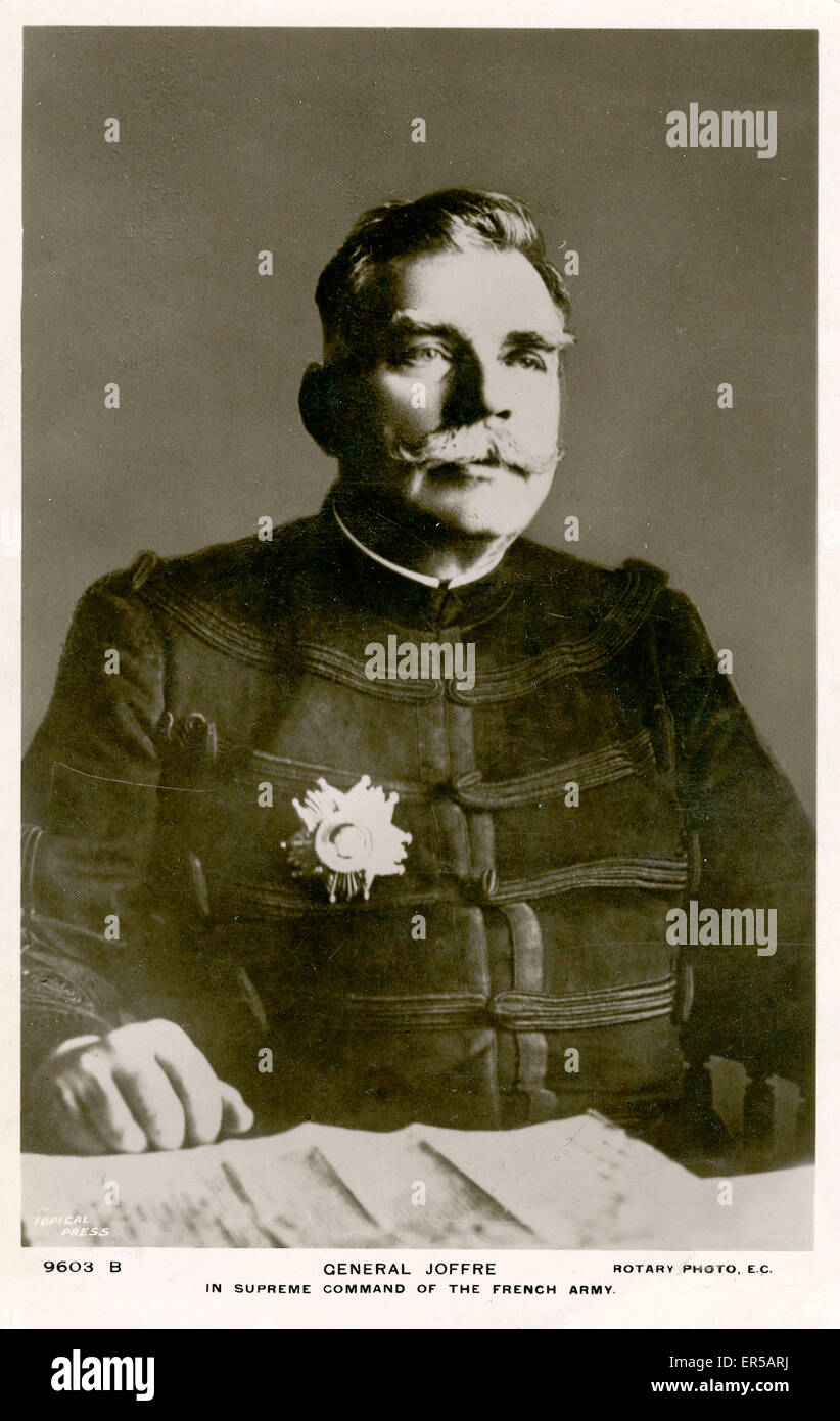 General Joffre, France. Supreme Commander of the French Army  1910s - Stock Image