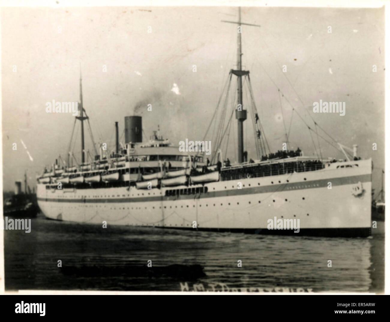 HMT (Hired Military Transport) Ship Dilwara, .  C1920s - Stock Image