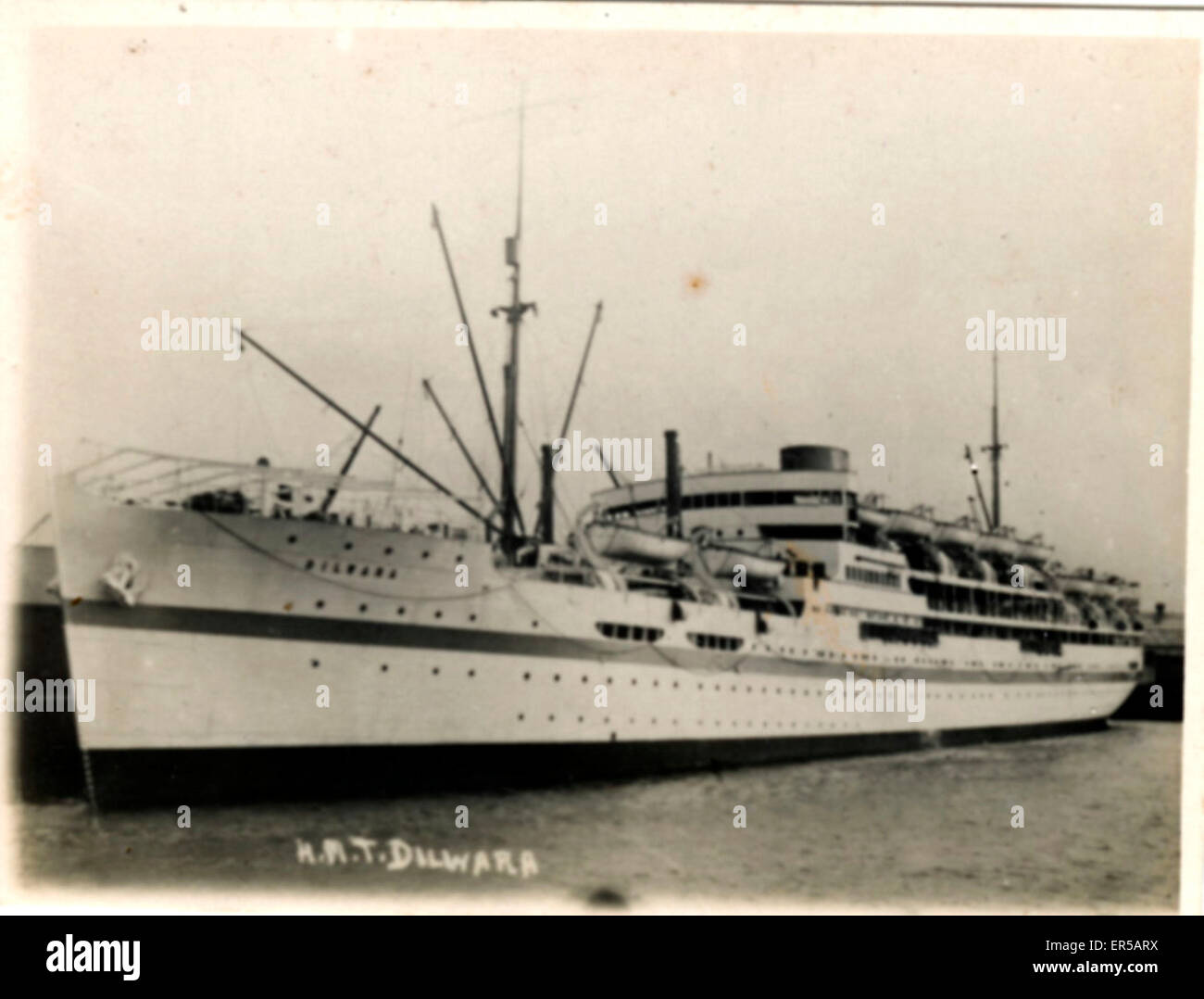 HMT (Hired Military Transport) Ship Dorsetshire, .  C1920s - Stock Image