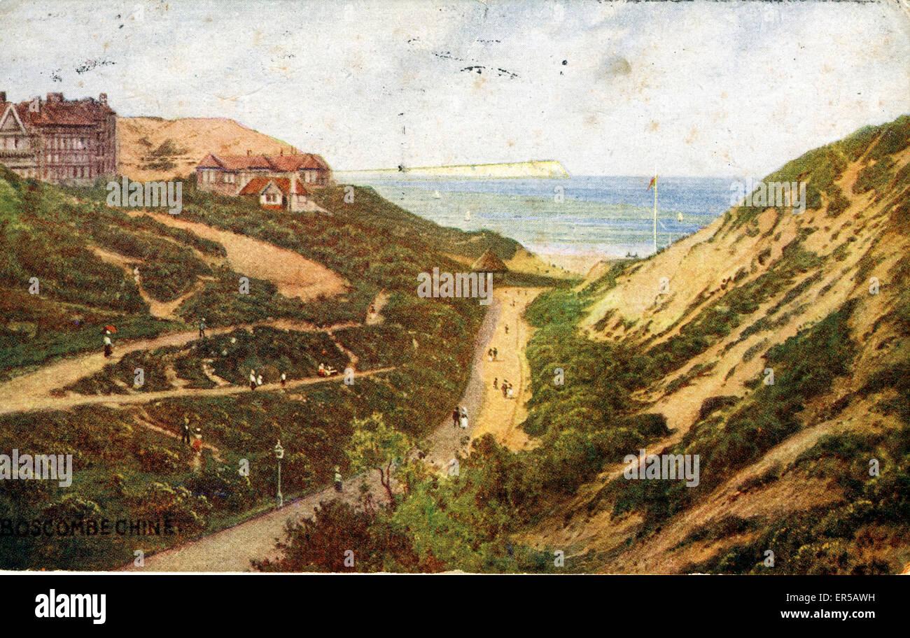 The Chine, Boscombe, Bournemouth, Dorset, England.  1900s - Stock Image