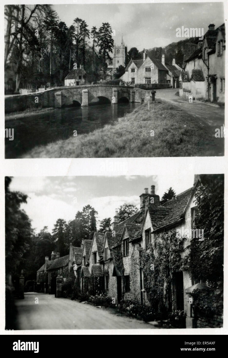 Village, Awaiting Identification, England.  1950s - Stock Image