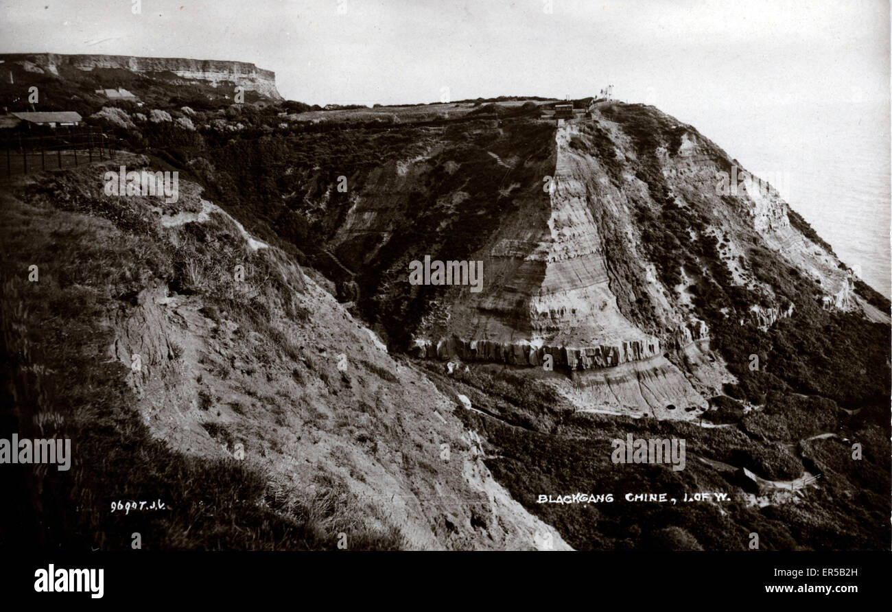 Blackgang Chine, Isle of Wight, England.  1910s - Stock Image