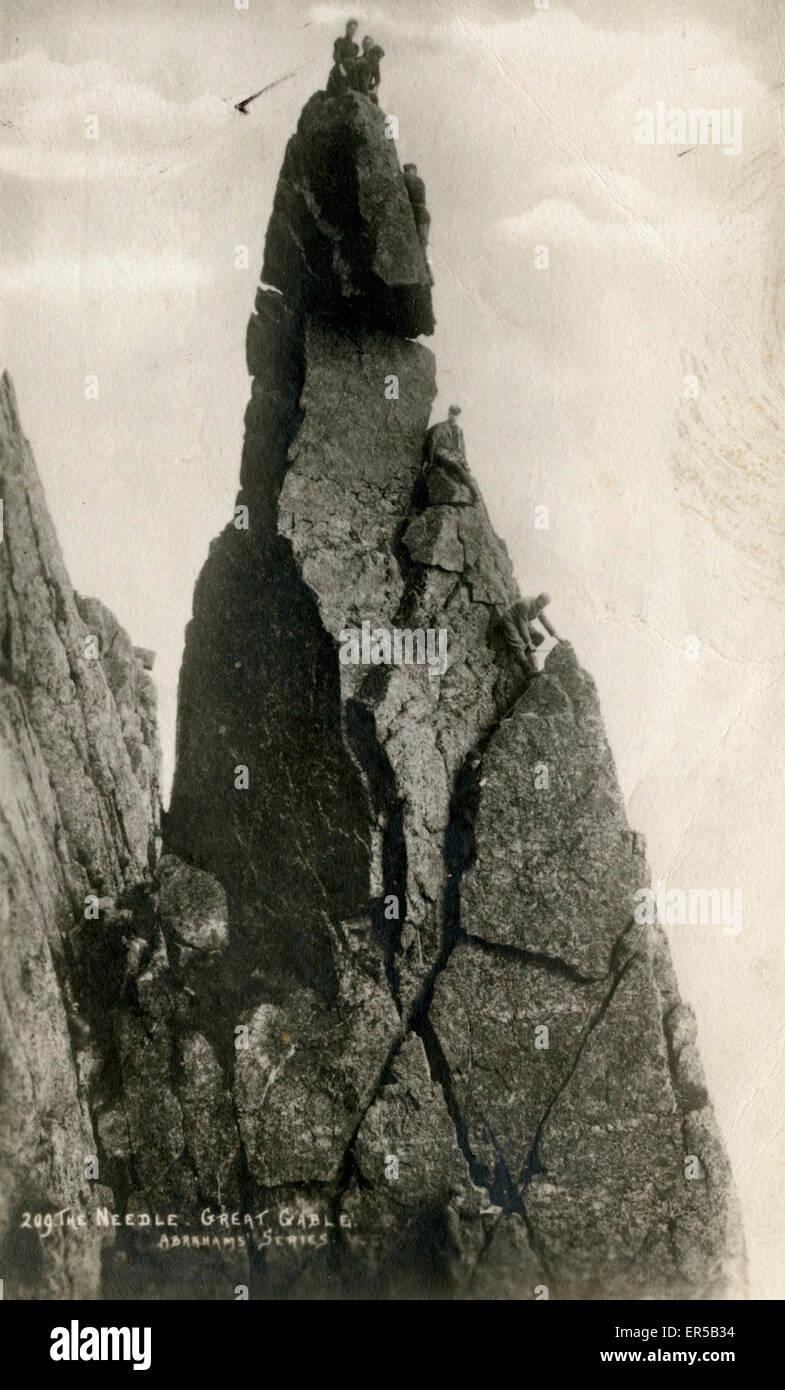 The Needle, Great Gable, Seascale, Cumbria, England.  1900s - Stock Image