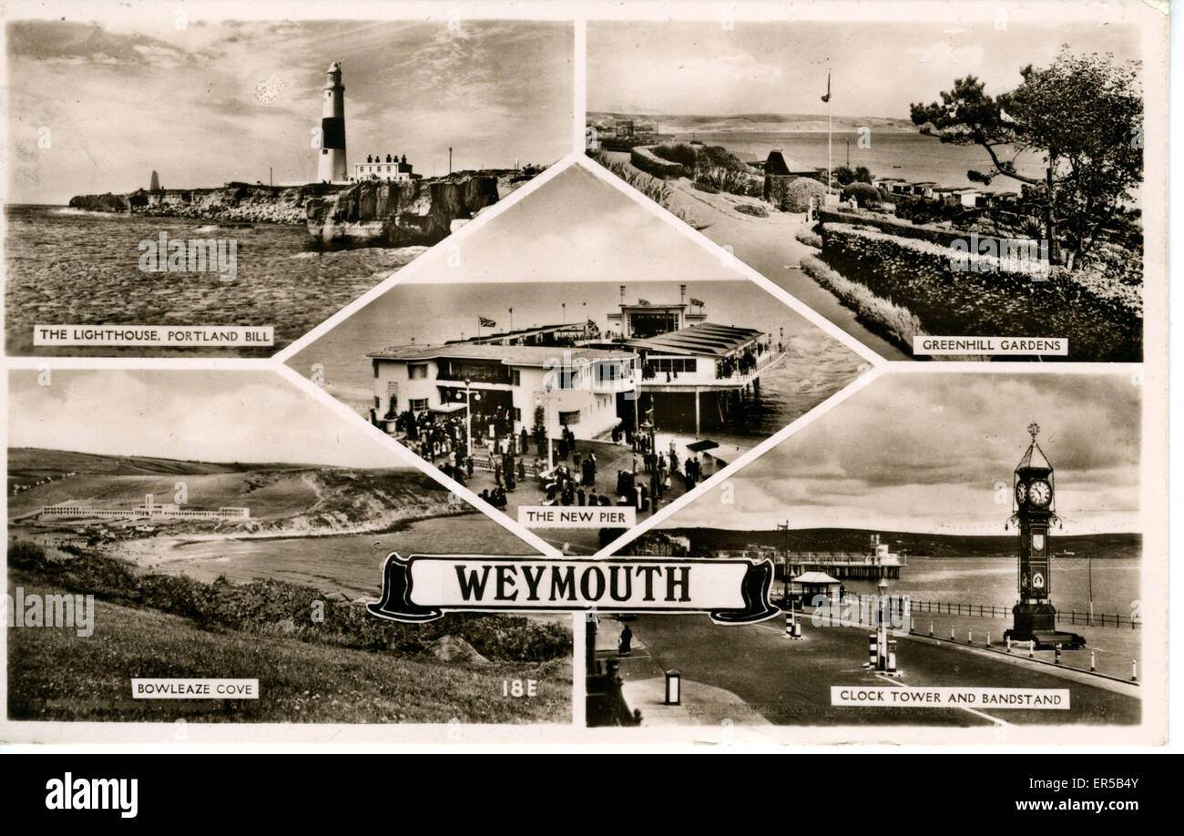 Multiview, Weymouth, Dorset, England.  1930s - Stock Image