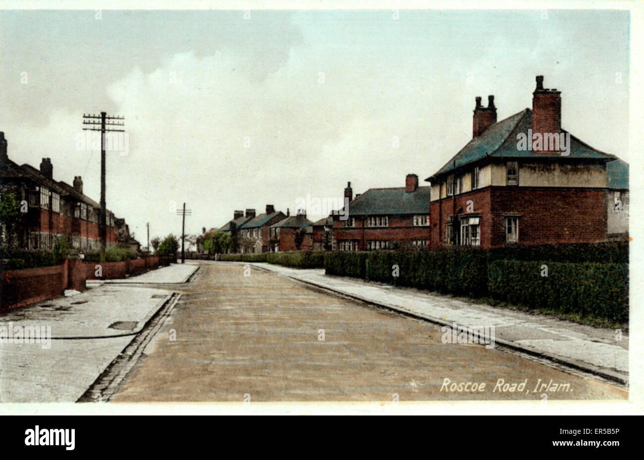 Roscoe Road, Irlam, Manchester, Lancashire, England.  1920s - Stock Image