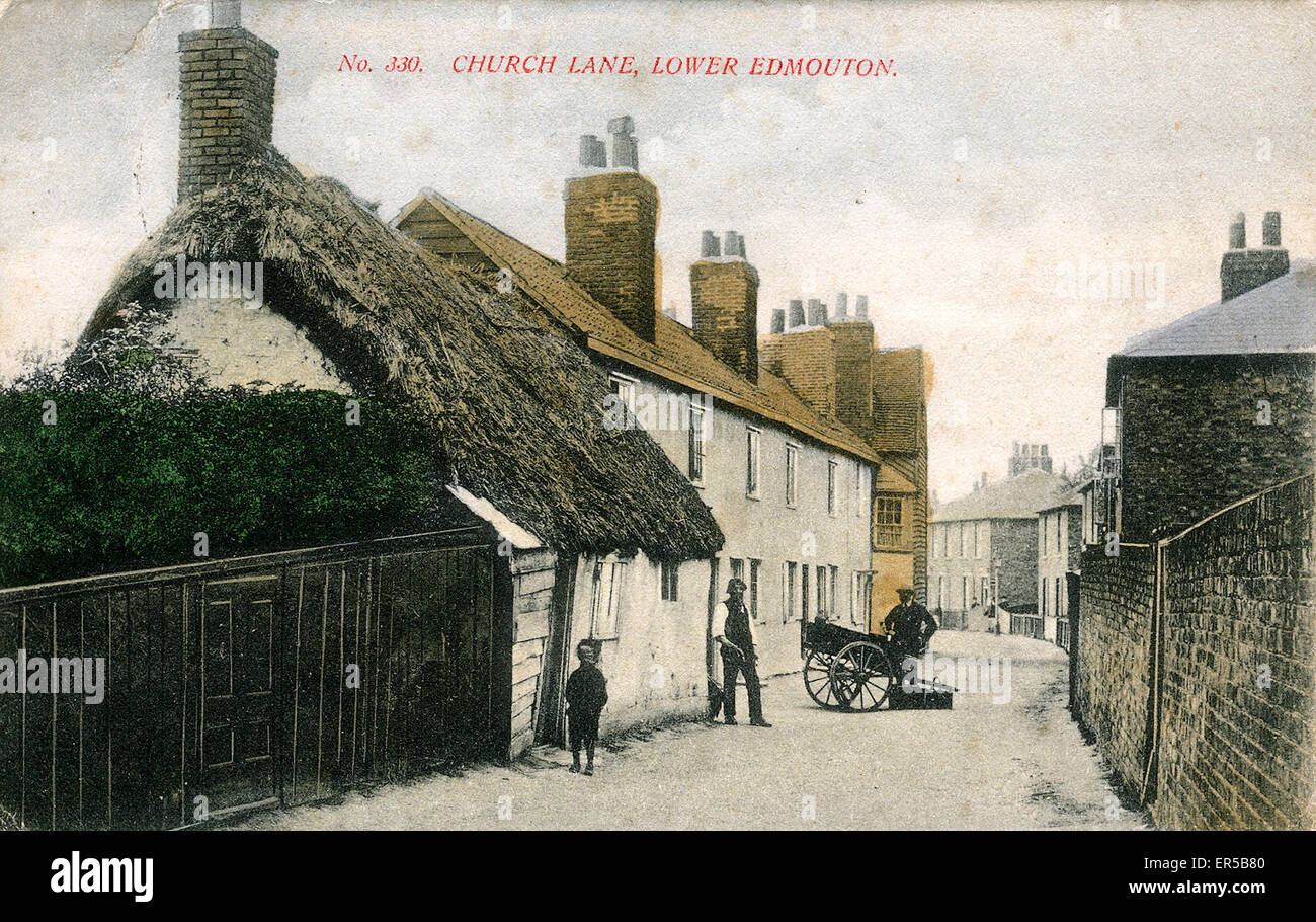 Church Lane, Lower Edmonton, Enfield, County of London, England.  1900s - Stock Image