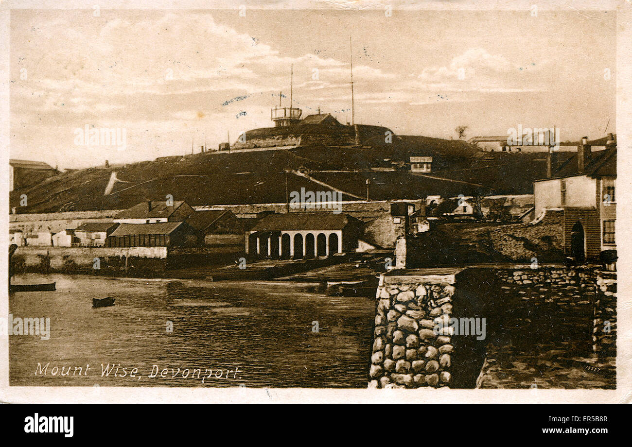 Mount Wise & Harbour, Devonport, Plymouth, Devon, England.  1920s - Stock Image