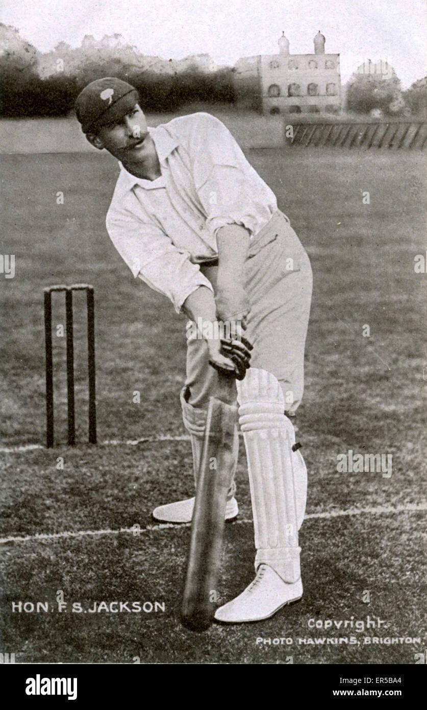Cricketer The Honourable Frank Stanley Jackson, *, . Born 1870 - Allerton Hall, Chapel Allerton, Leeds, Yorkshire - Stock Image