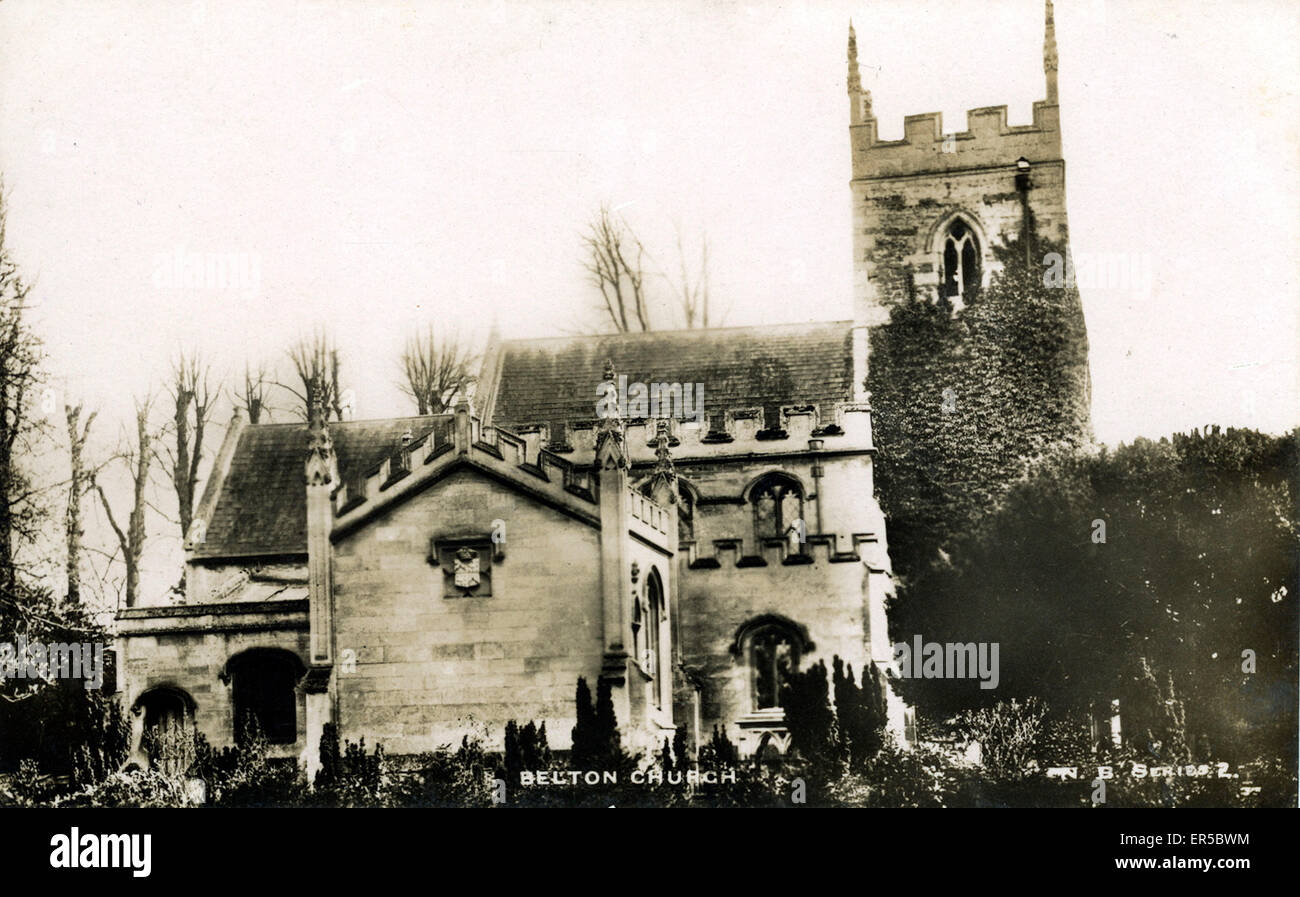 St Peter & St Paul Church, Belton, Epworth, Lincolnshire, England. 1920s - Stock Image