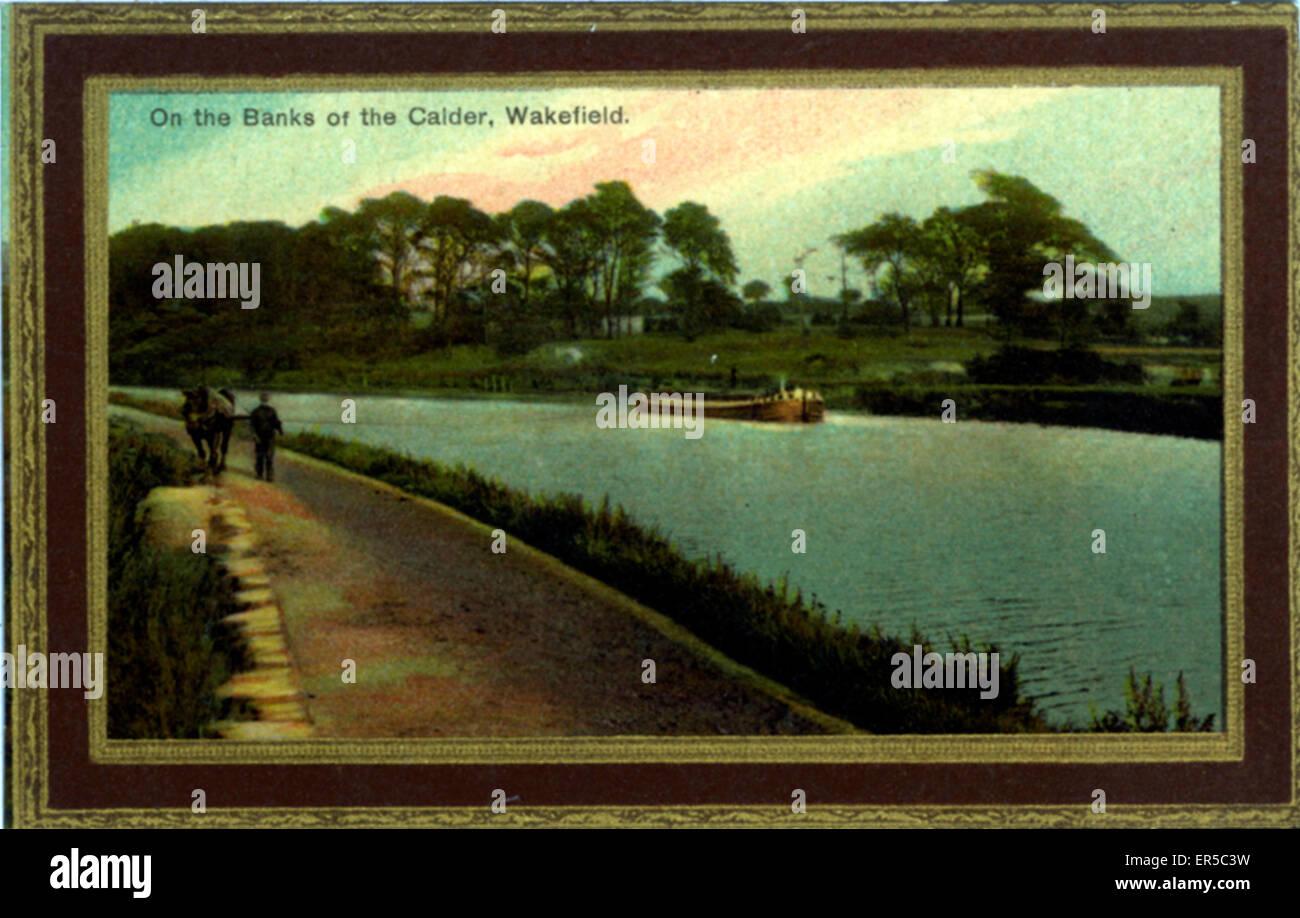 River Calder, Wakefield, Yorkshire, England.  1900s - Stock Image