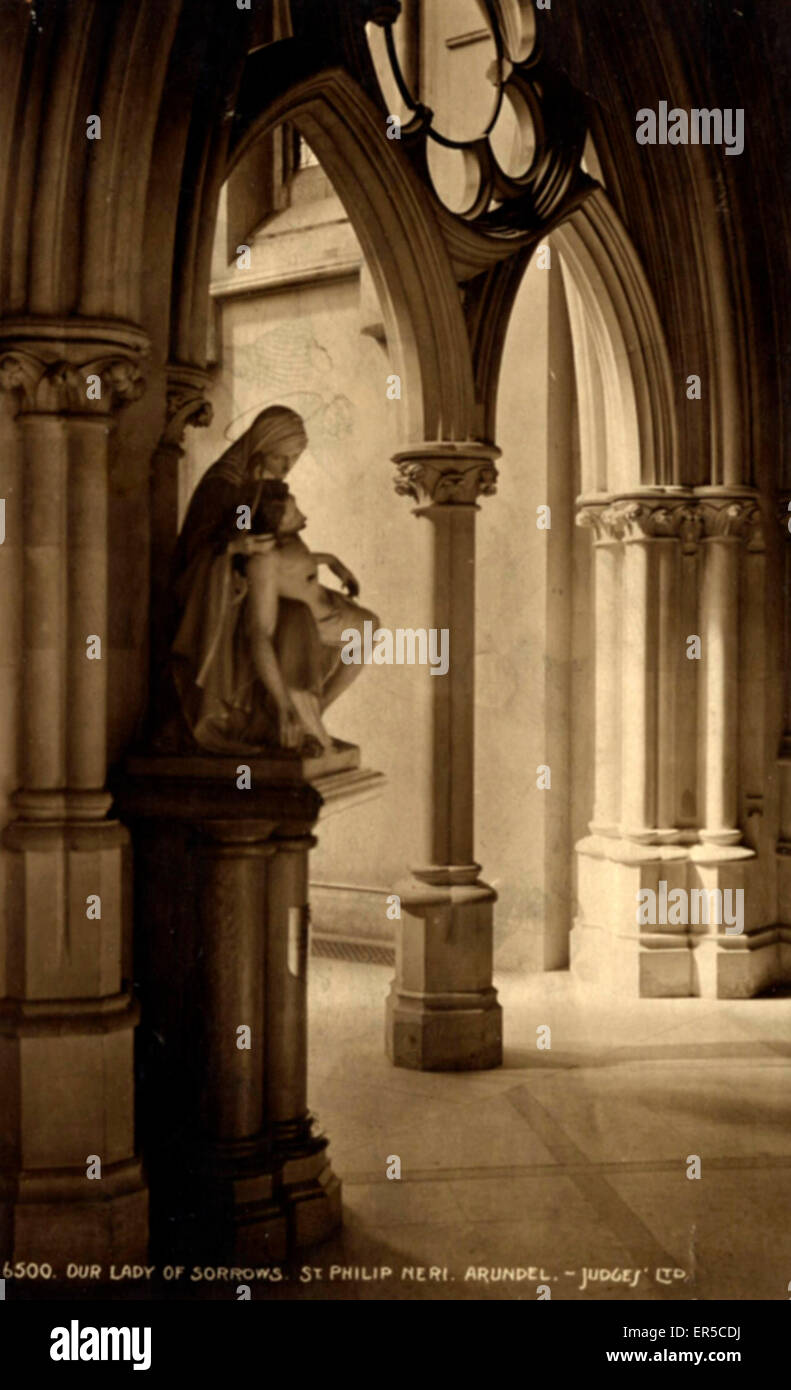 The Cathedral Church of Our Lady and St Philip Howard, Arundel, near Littlehampton, Sussex, England.  1920s - Stock Image