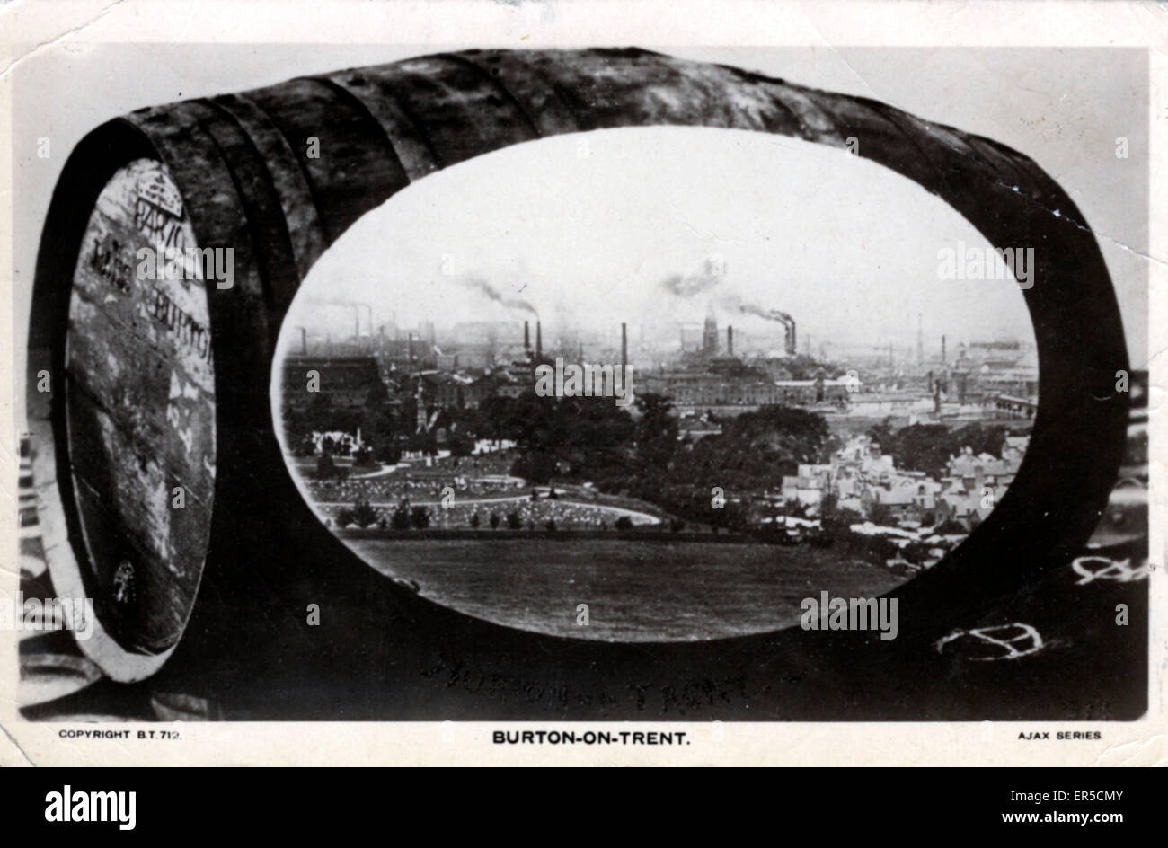 Breweries, Burton on Trent, Staffordshire, England. Brewing Industry  1922 Stock Photo