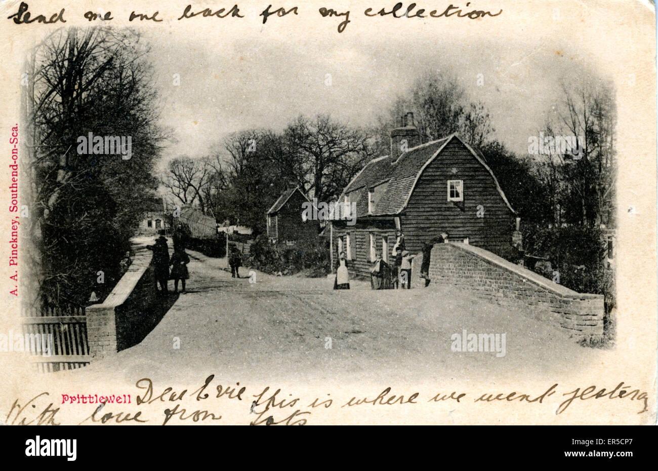 Bridge, Prittlewell, Southend-on-Sea, Essex, England.  1900s - Stock Image