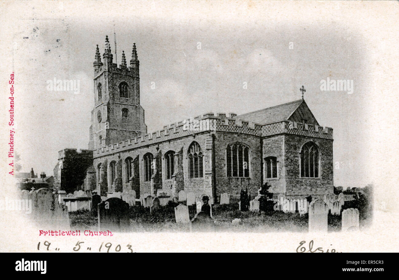 Church, Prittlewell, Southend-on-Sea, Essex, England.  1903 - Stock Image