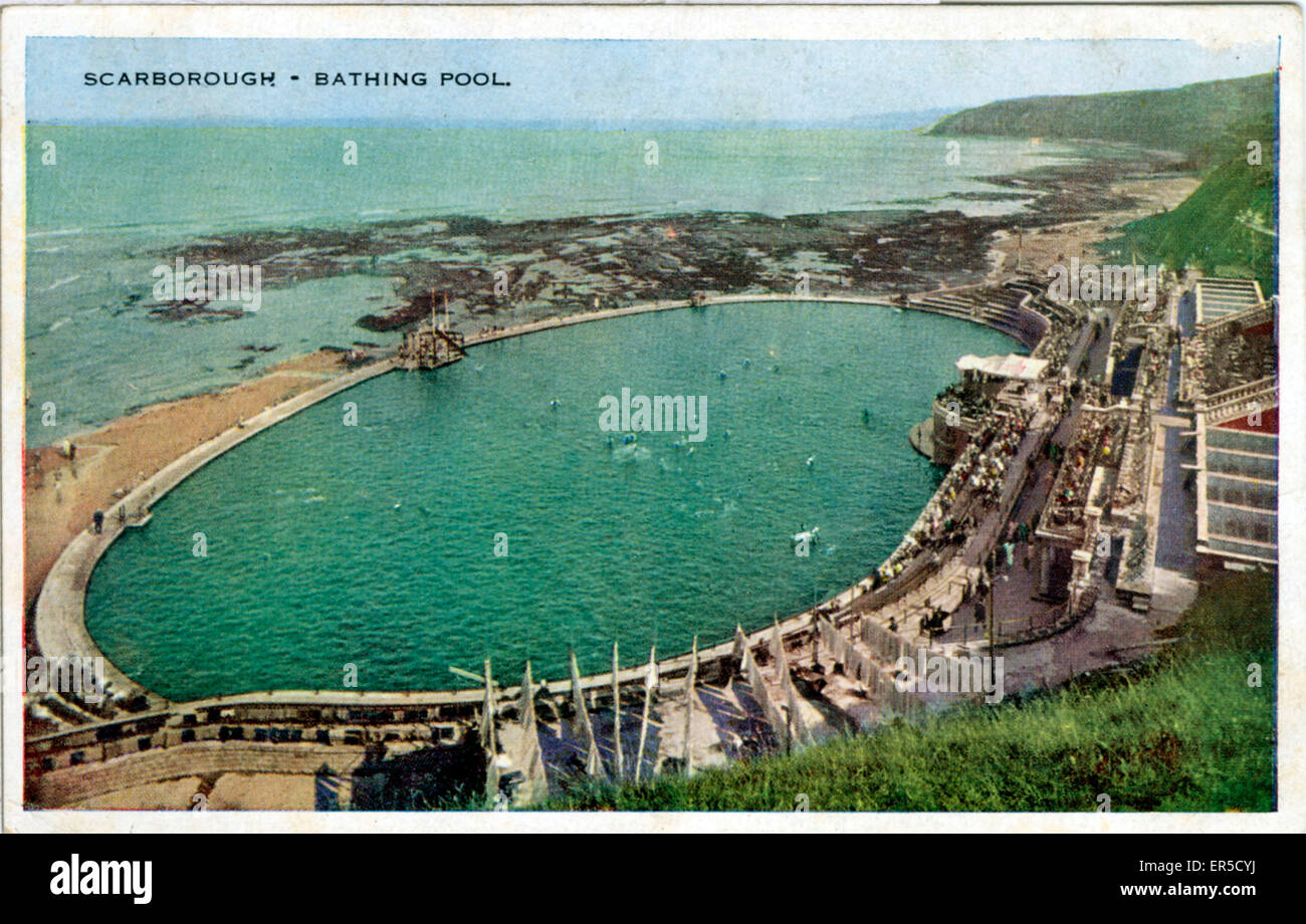 Bathing Pool, Scarborough, Yorkshire, England.  1930s Stock Photo