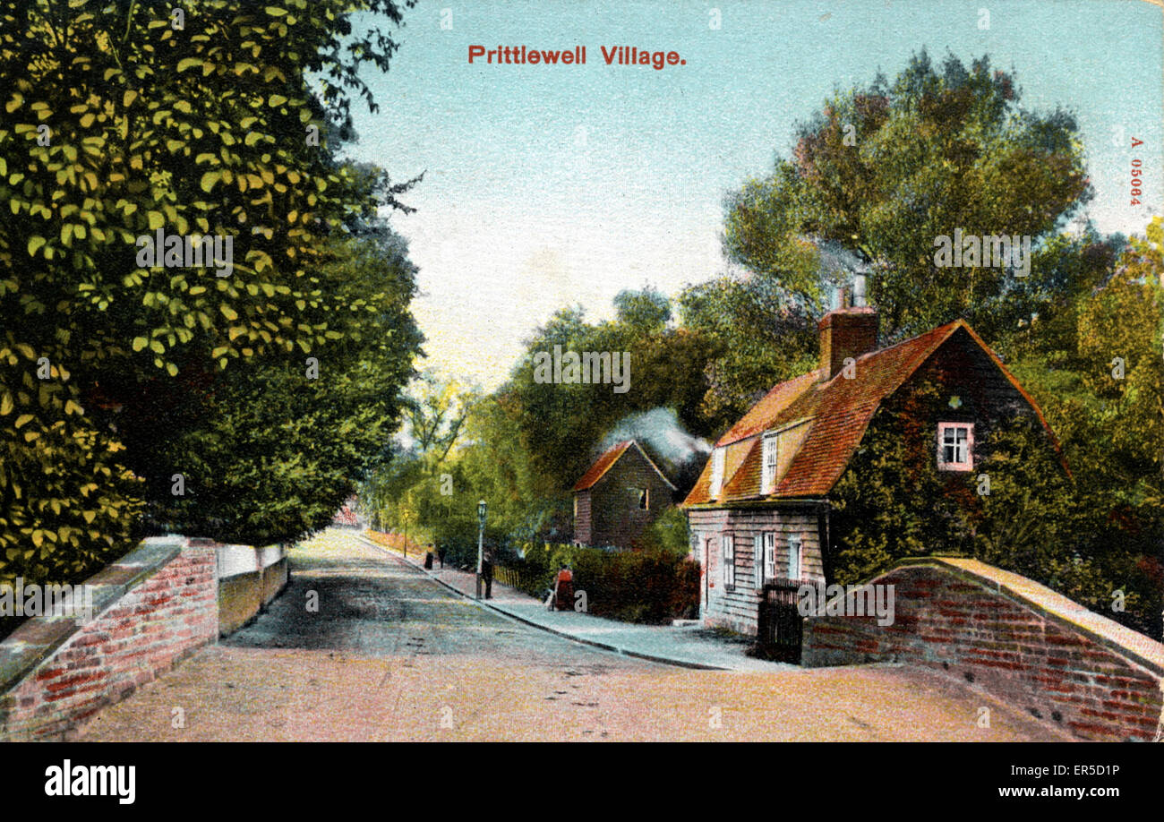The Village, Prittlewell, Southend-on-Sea, Essex, England.  1906 Stock Photo