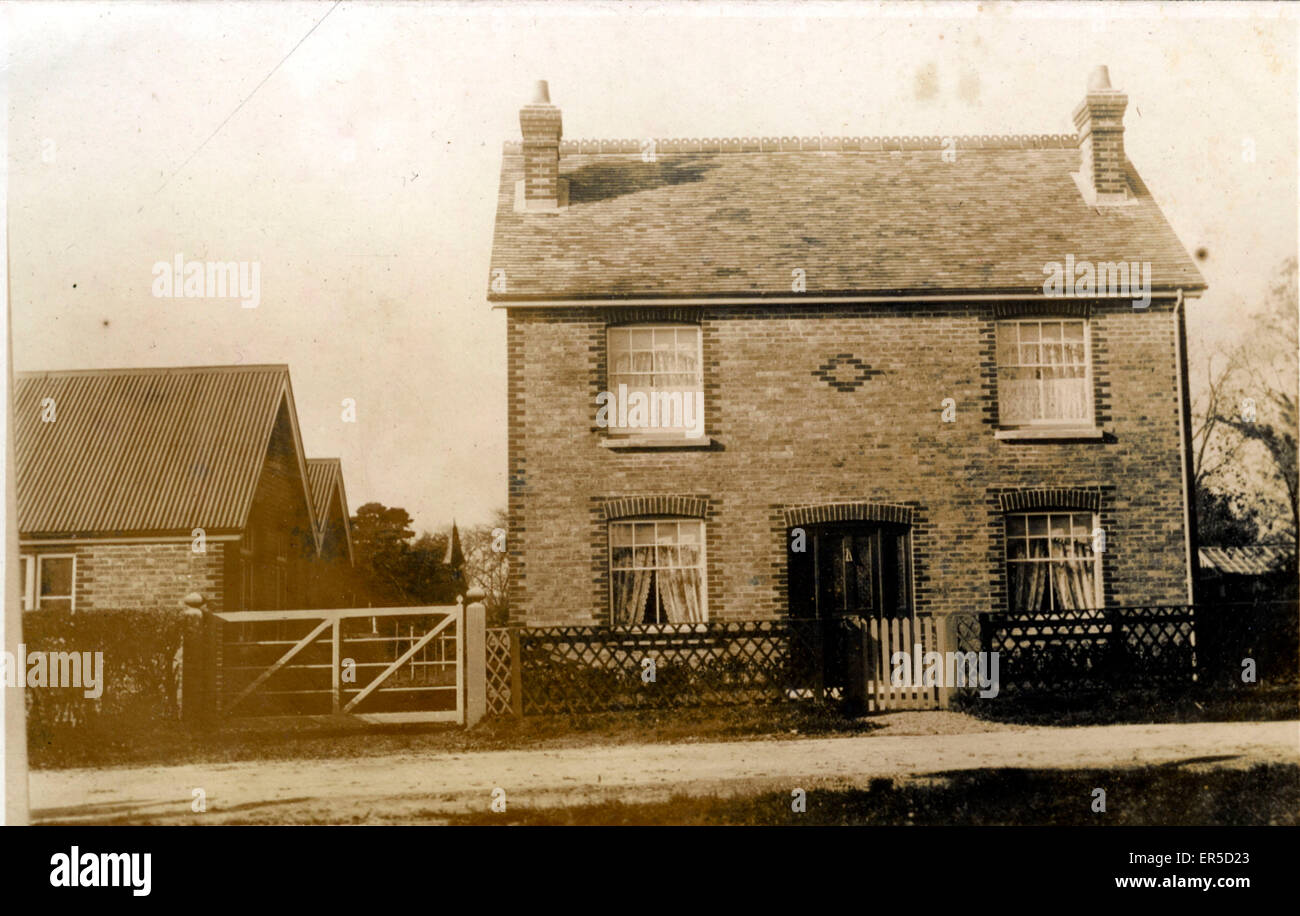 Detached House, Whalley, Clitheroe, Lancashire, England.  1920s - Stock Image