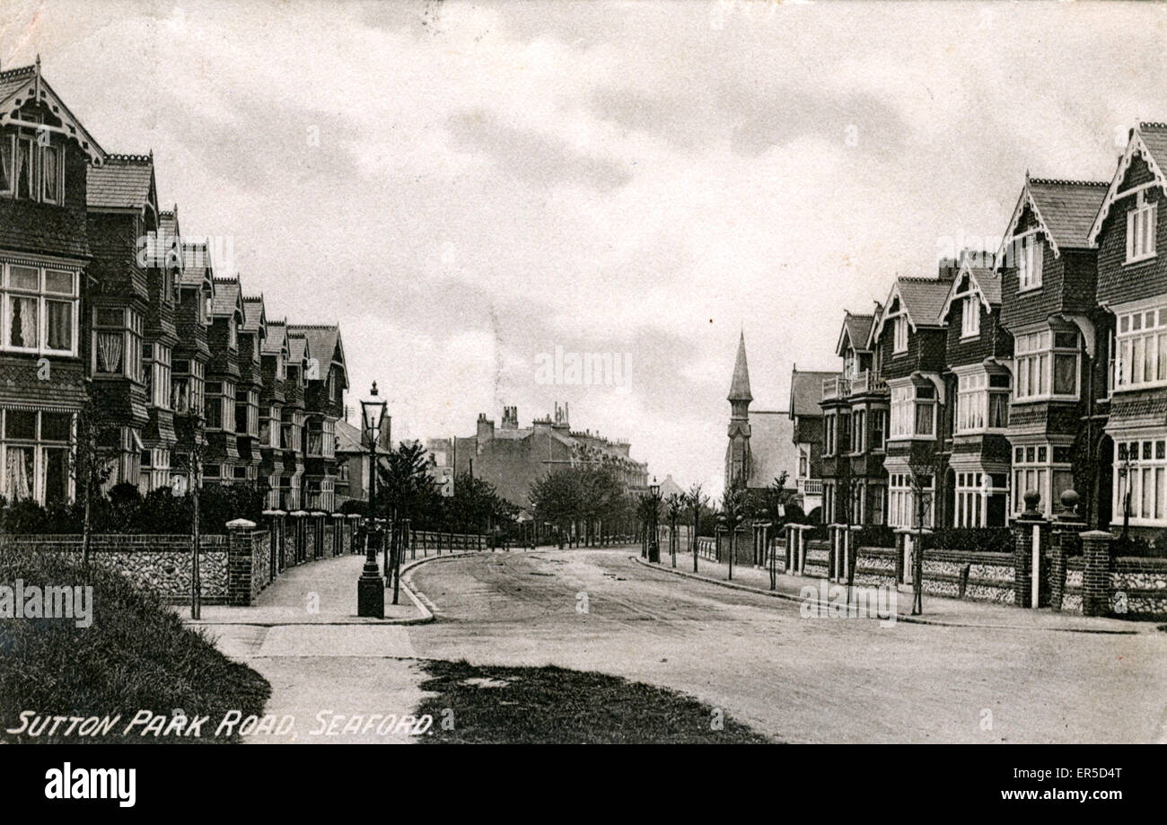 Sutton Park Road, Seaford, near Eastbourne, Sussex, England.  1920s - Stock Image