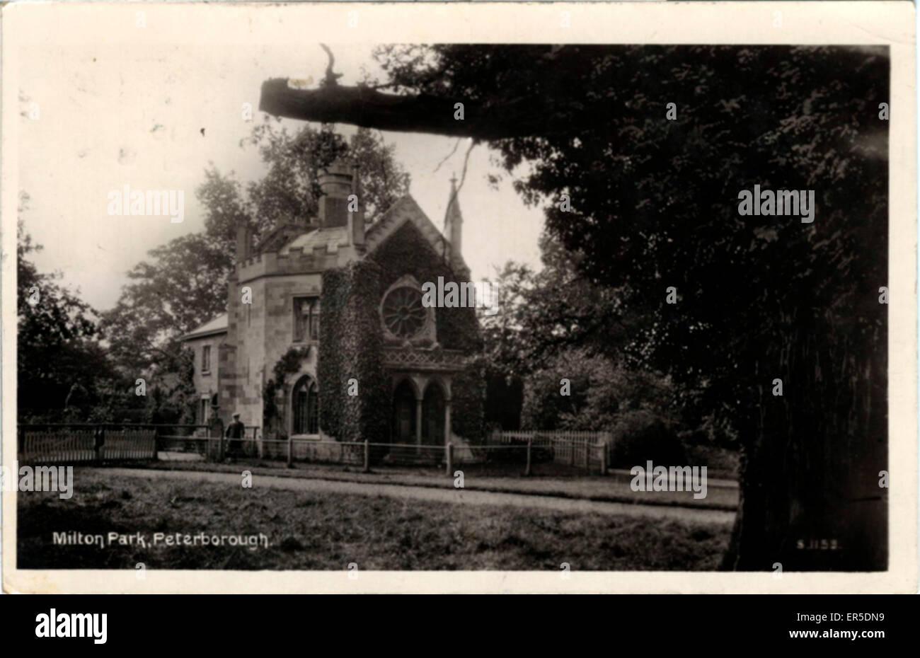 Milton Park, Peterborough, Cambridgeshire, England.  1910s - Stock Image