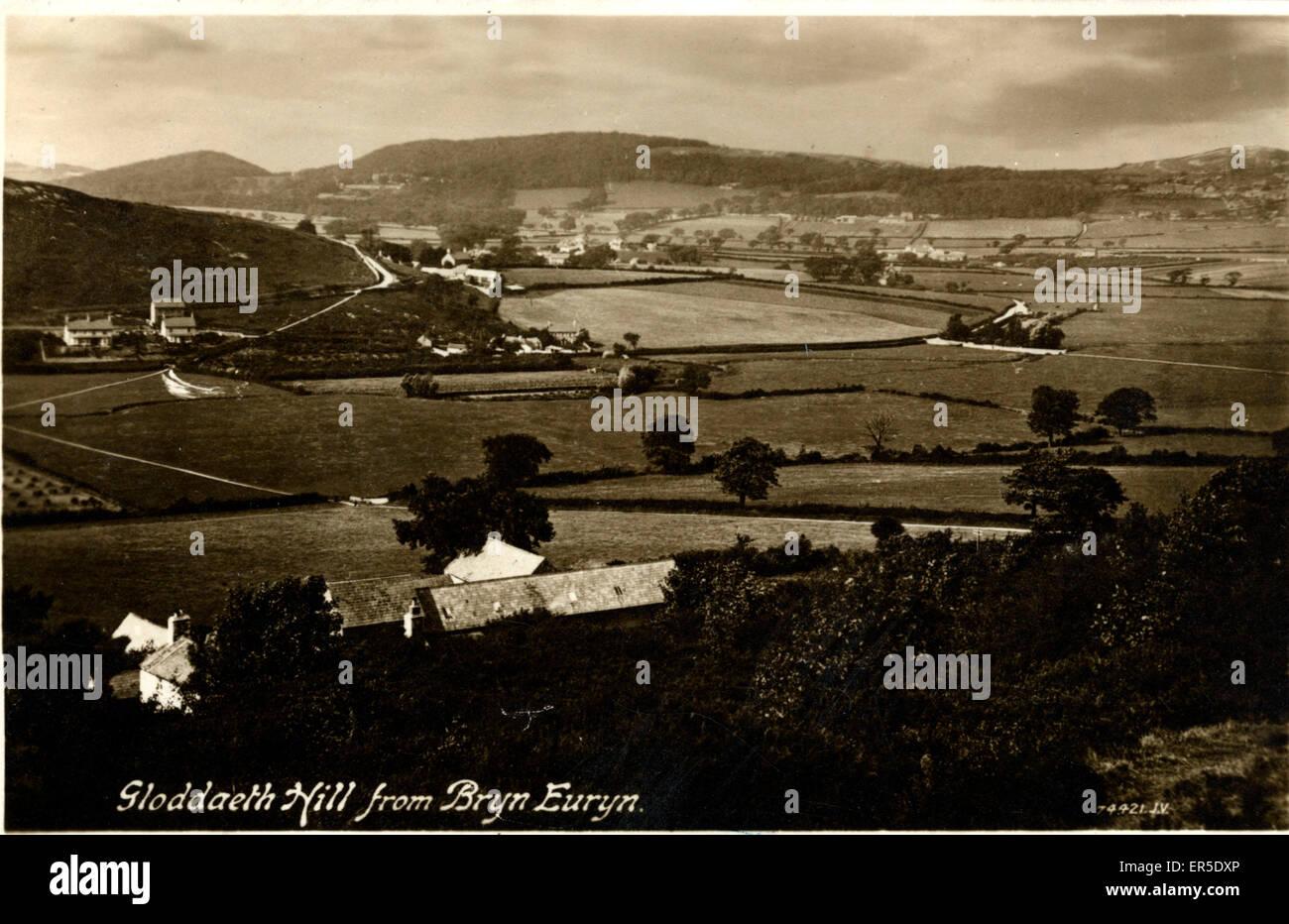 Gloddaeth Hill from Bryn Euryn, Colwyn Bay, near Rhos on Sea, Conwy/Clwyd, Wales.  1913 - Stock Image