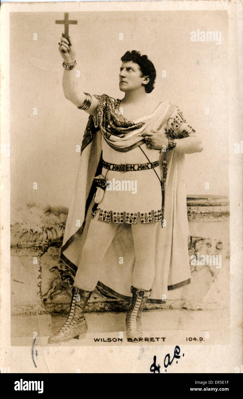 Actor Wilson Barrett, England. Edwardian Actor  1904 - Stock Image