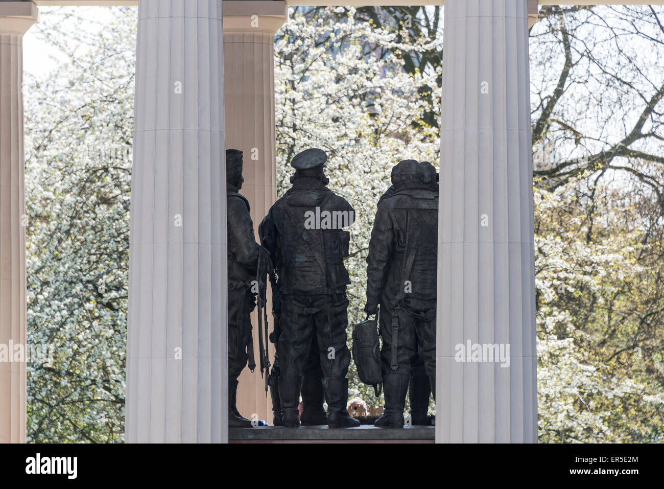 The Royal Air Force Bomber Command Memorial in spring, The Green Park, City of Westminster, London, England, United - Stock Image