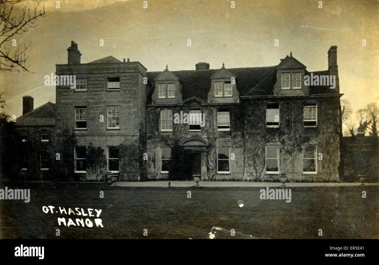 Great Haseley Manor, Oxford, near Thame, Oxfordshire, England.  1913 - Stock Image