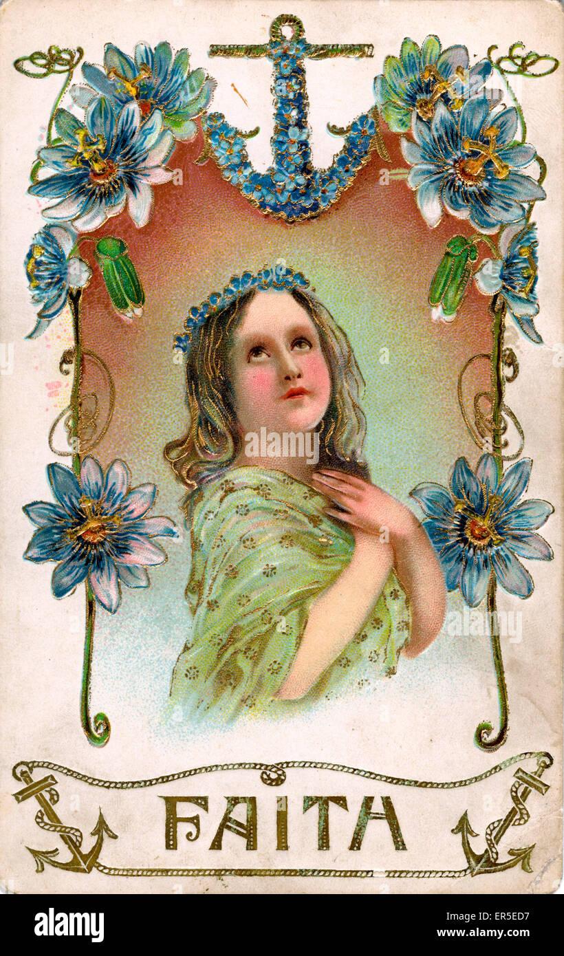 Christian Martyred Saints - Faith  1910s - Stock Image