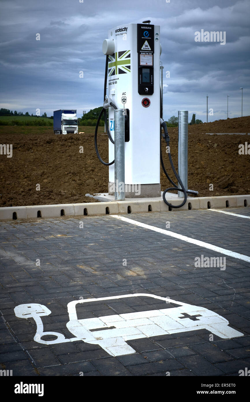Electric car recharge station - Stock Image