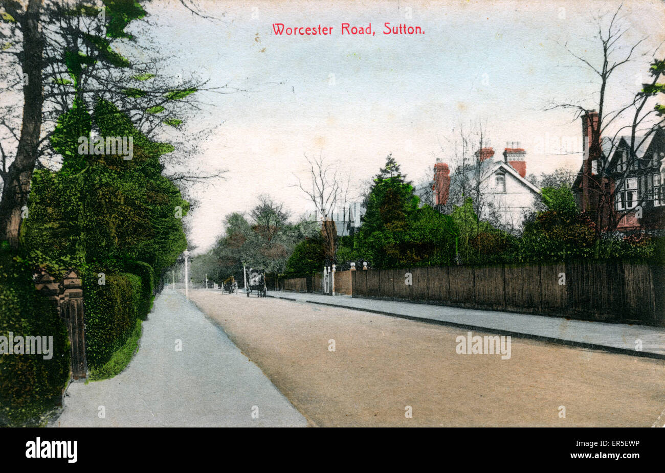 Worcester Road, Sutton, near Croydon, Surrey, England.  1910s - Stock Image