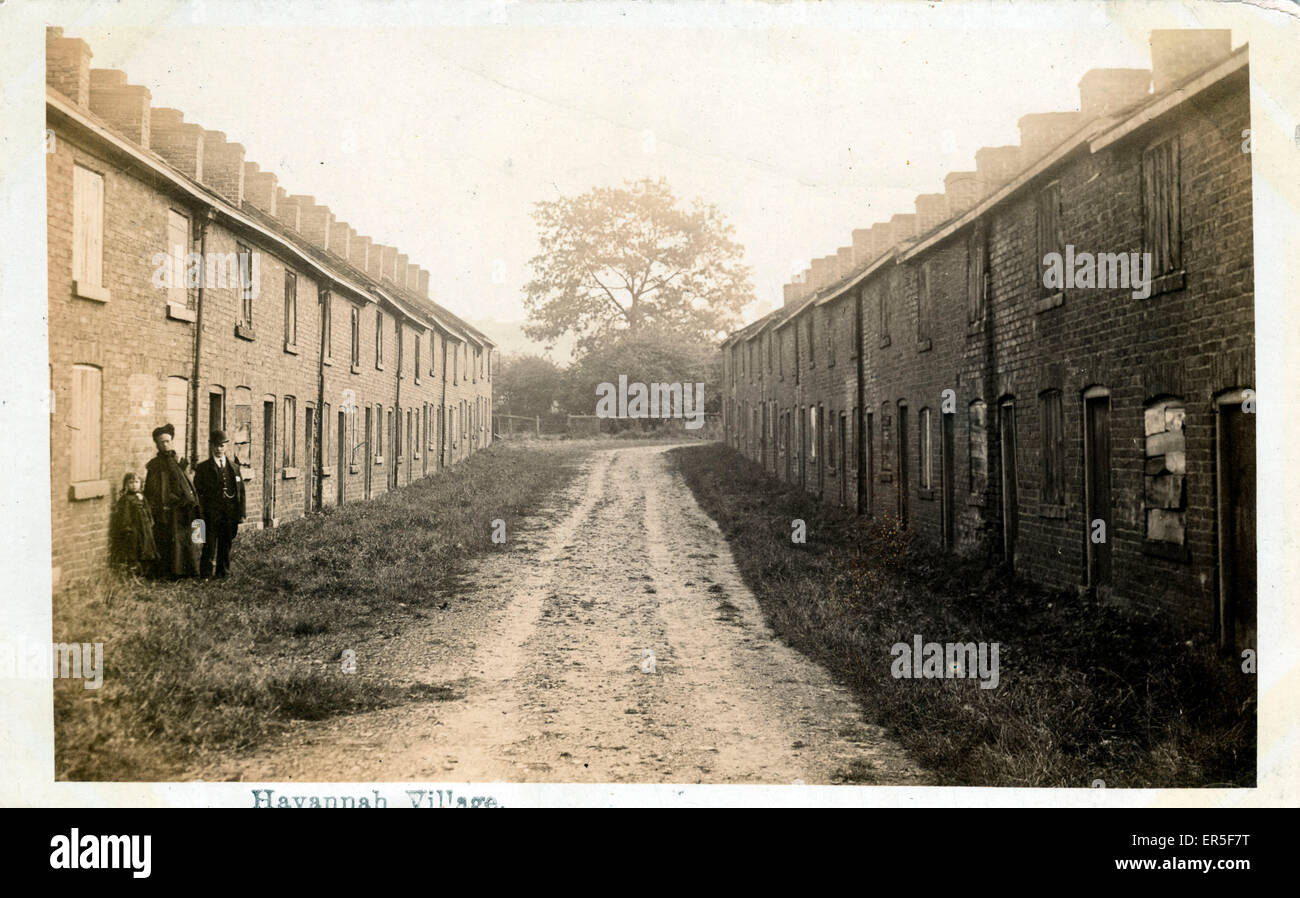 The Deserted The Village, Havannah, Congleton, near Buglawton, Cheshire, England.  1915 - Stock Image