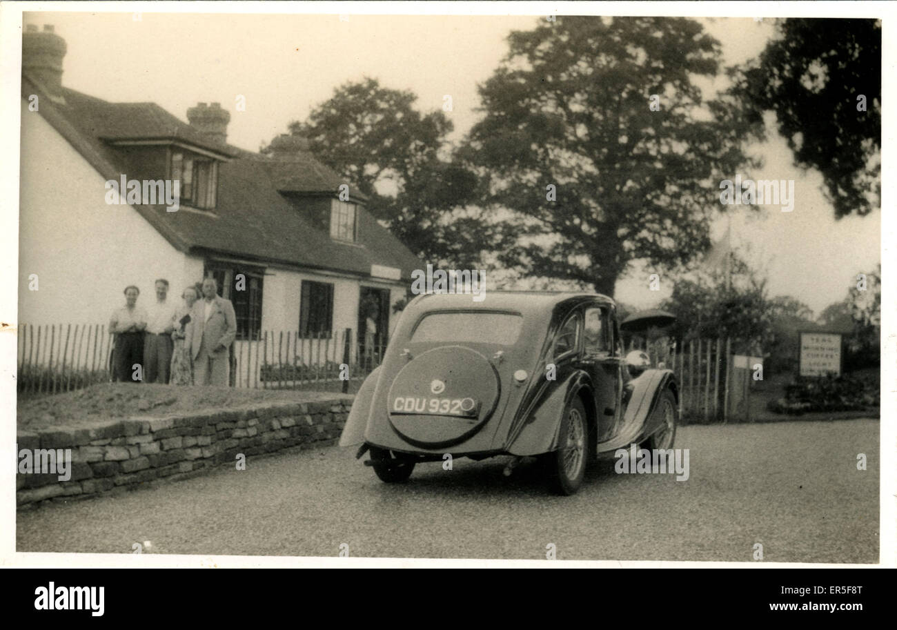 Riley Kestral Vintage Car, Thought to be at Coventry, Warwickshire, England.  1930s - Stock Image