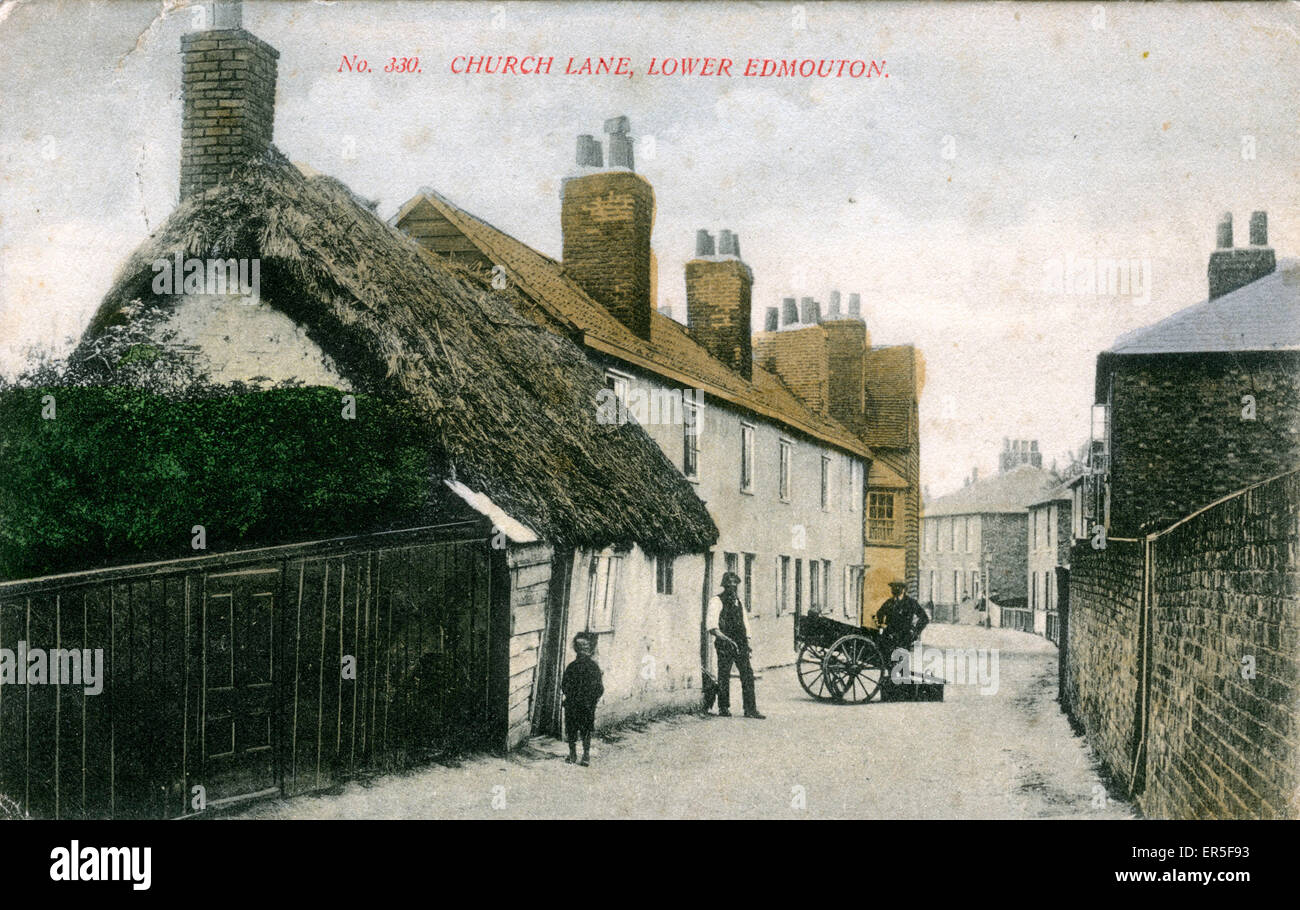 Church Lane, Lower Edmonton, Enfield, near Tottenham, County of London, England.  1906 - Stock Image