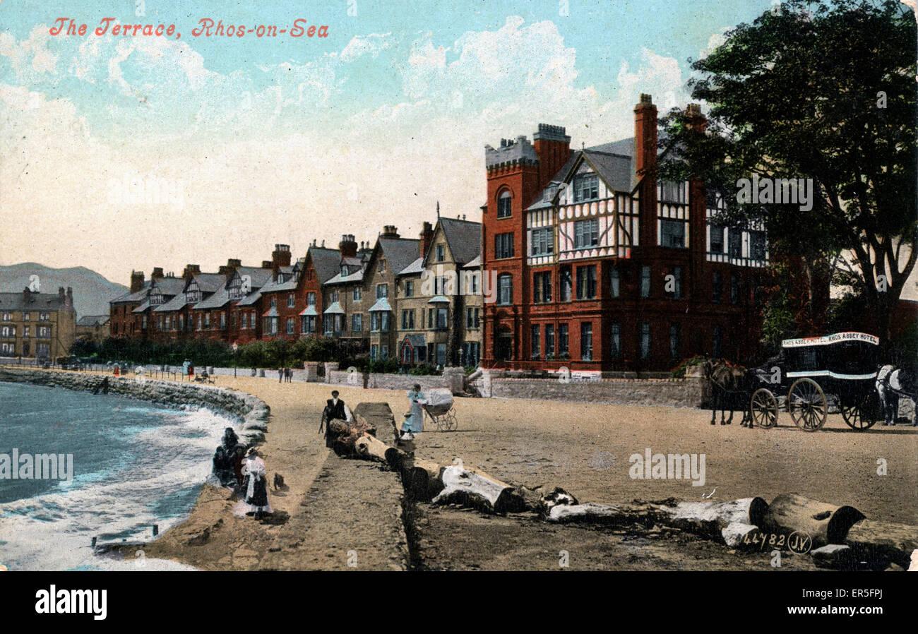 The Terrace, Rhos-on-Sea, Colwyn Bay, near Llandudno, Clwyd/Conwy, Wales.  1907 - Stock Image