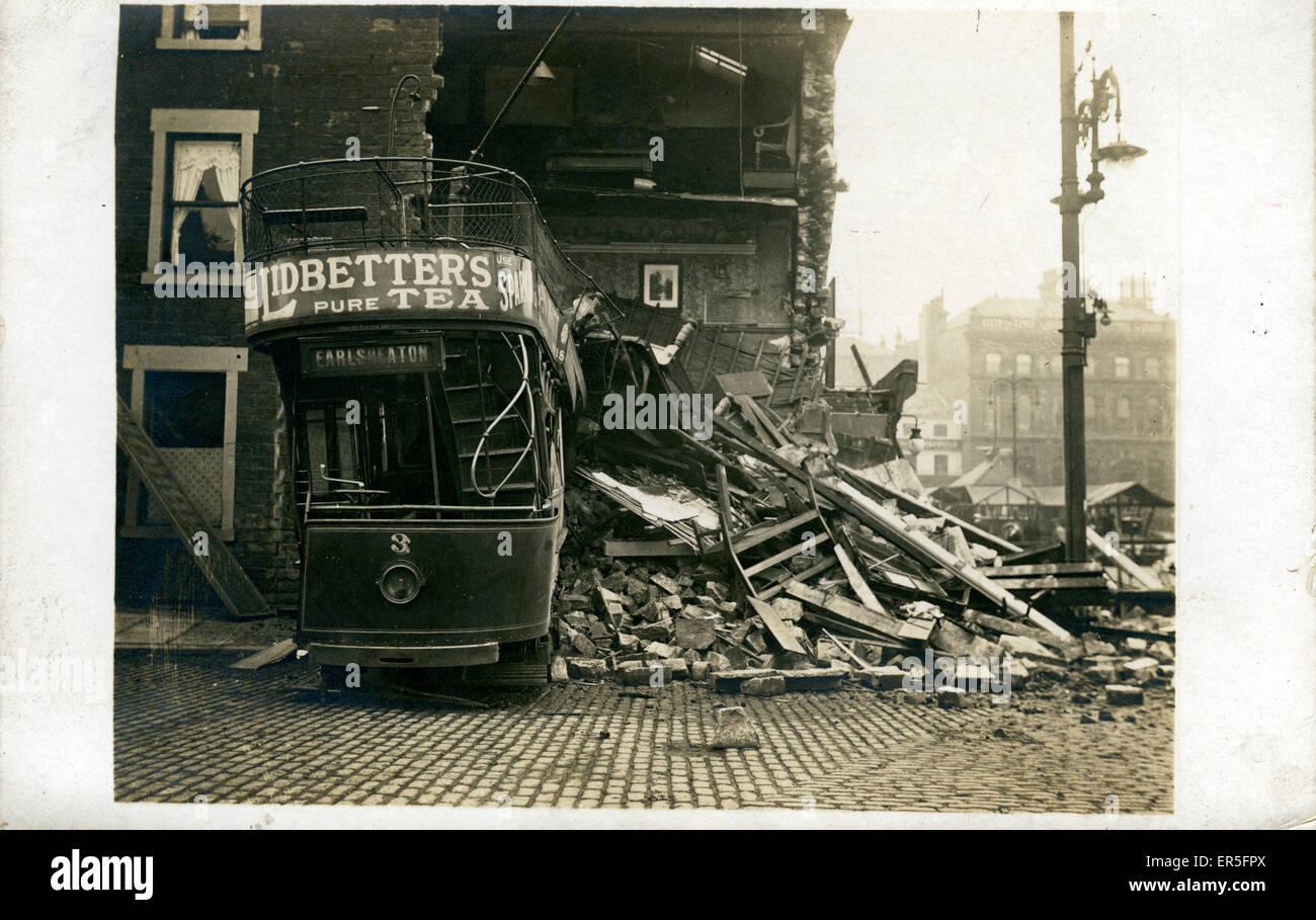 Tram Disaster, Earlsheaton, Dewsbury, Yorkshire, England.  1900s - Stock Image