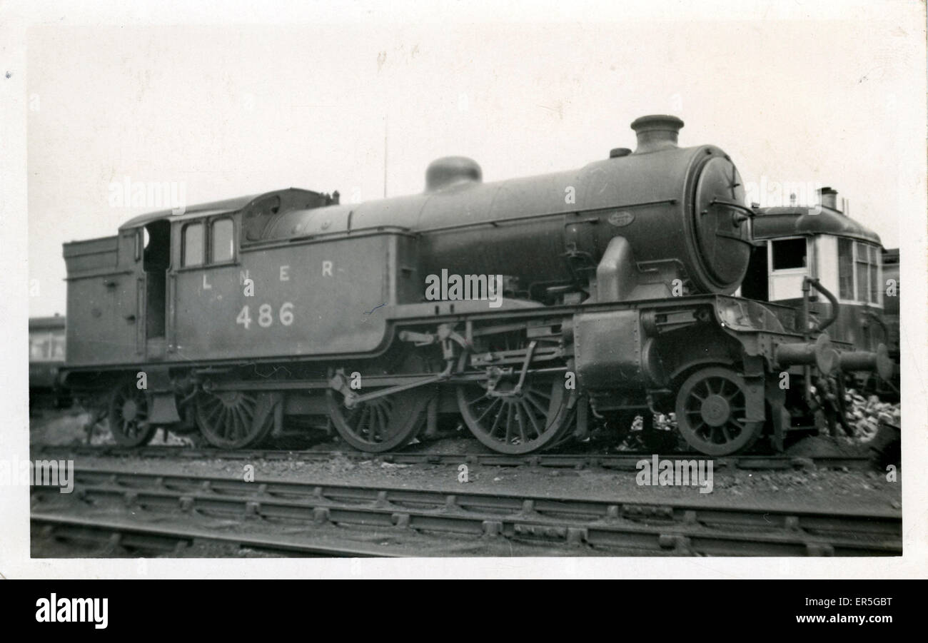 Class VI 2-6-2 Tank Locomotive - No. 486, England. London & North Eastern Railway  1930s - Stock Image
