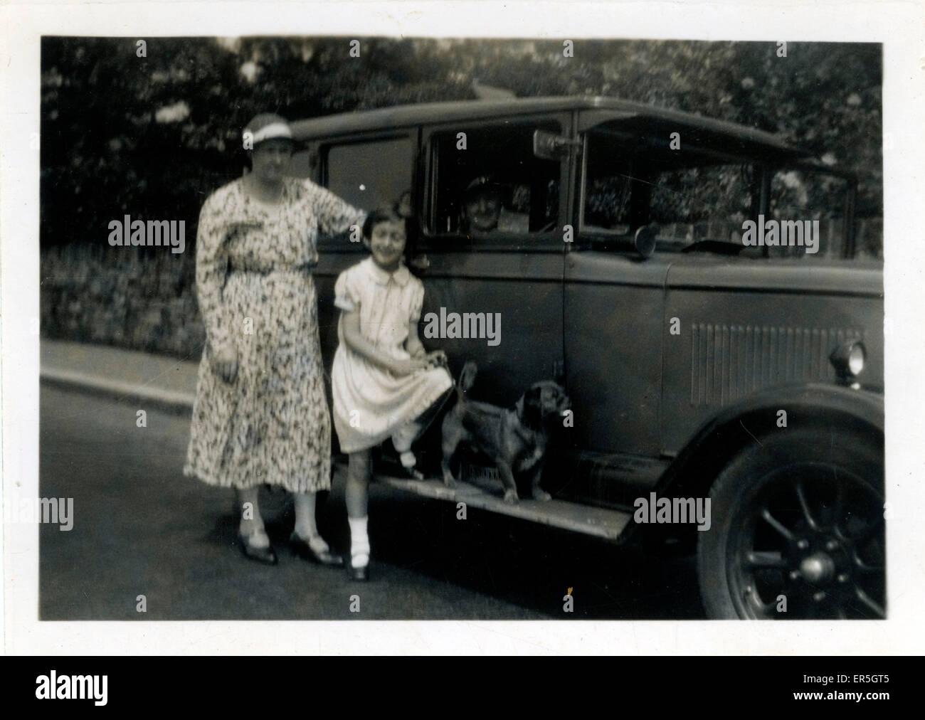 Vintage Car (awaiting identification), England.  1920s - Stock Image