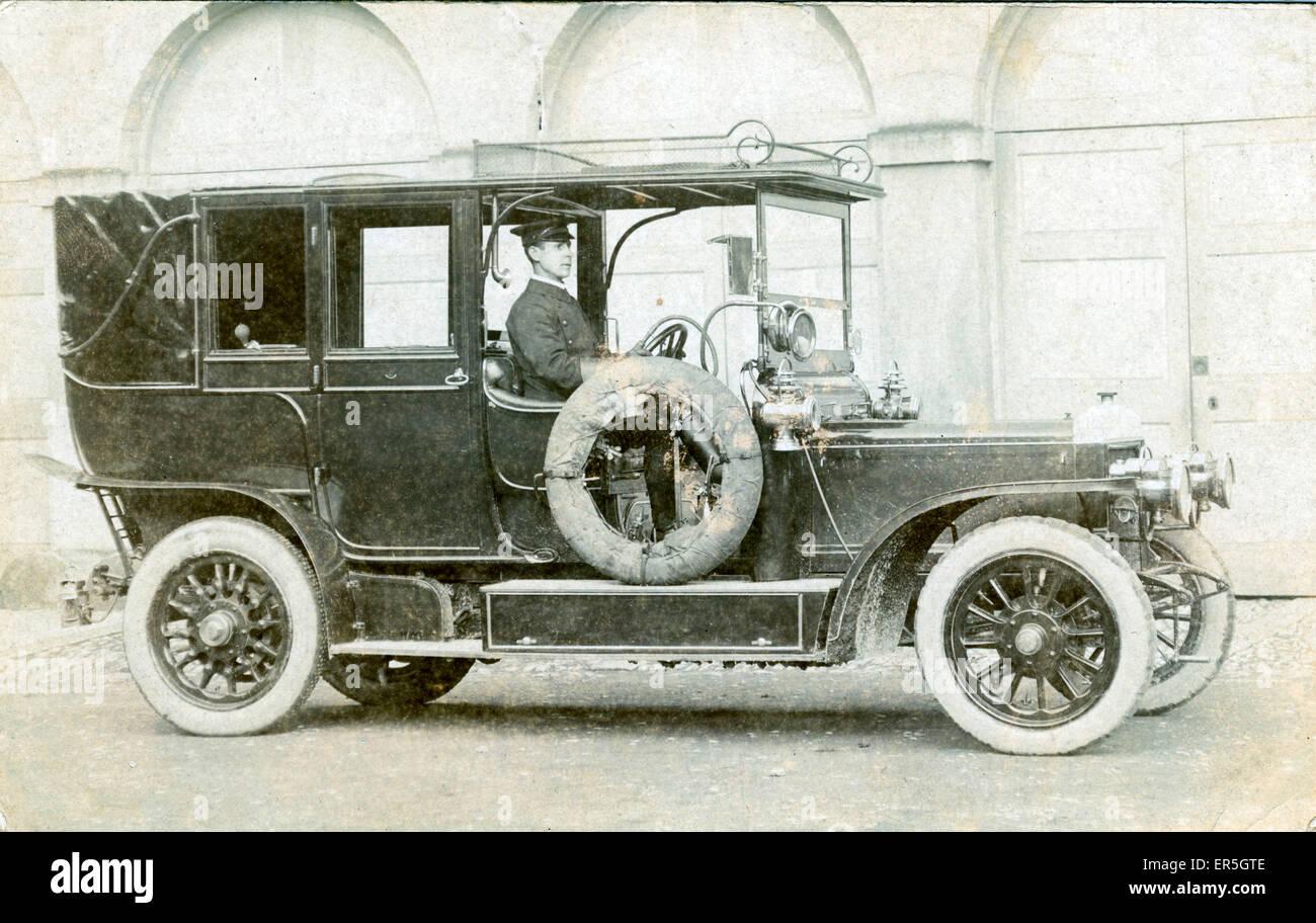 Sleeve-Valved Daimler Vintage Car/landaulet, England.  1900s - Stock Image
