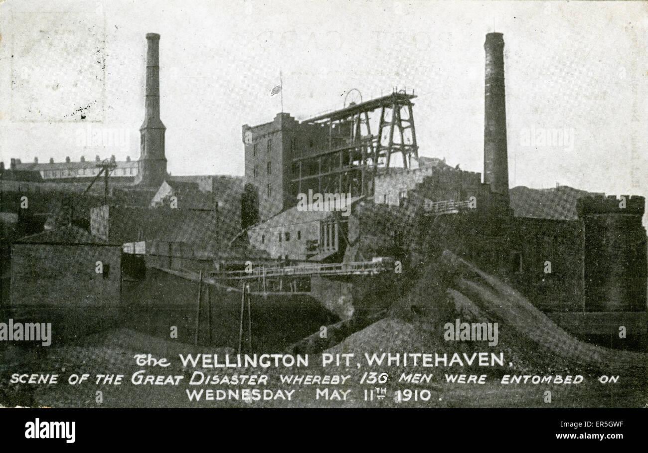 Wellington Colliery Disaster, Whitehaven, near Workington, Cumbria, England.  1910 - Stock Image