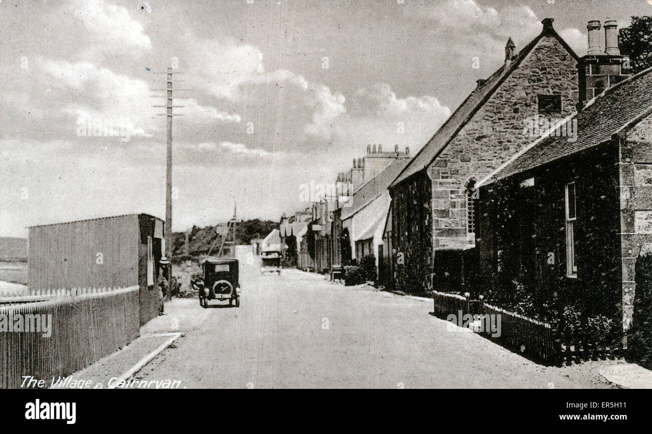 The Village, Cairnryan , Stranraer, near Loch Ryan, Dumfries-shire, Scotland.  1920s - Stock Image
