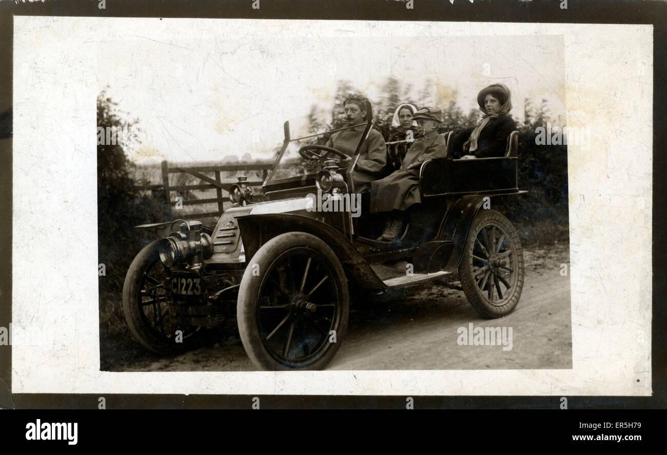 1904 De Dion Bouton Vintage Car, England.  1900s - Stock Image