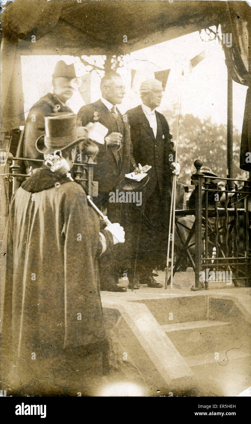 Bandstand Celebration, .  1910s - Stock Image