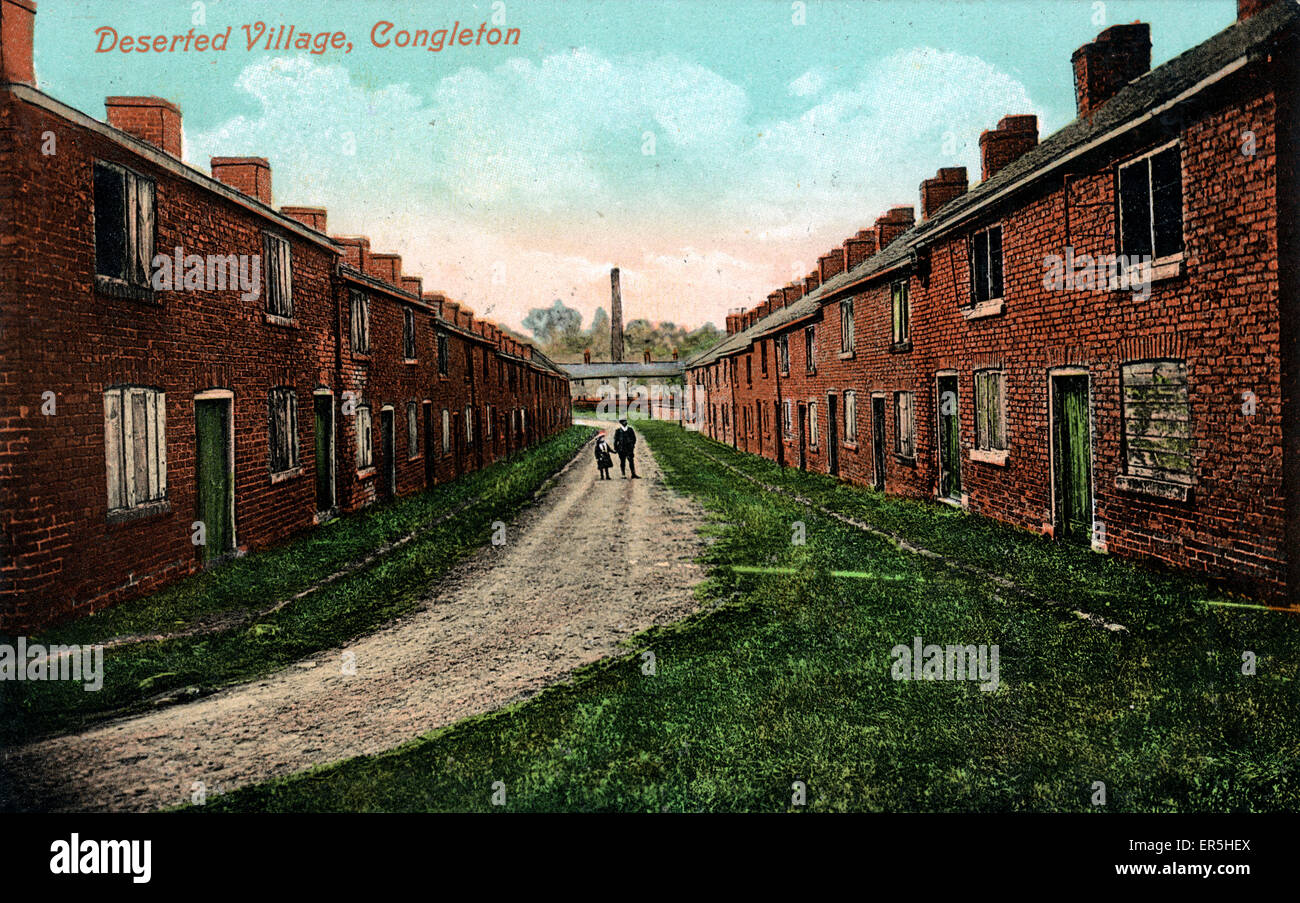 Deserted Village, Havannah, Congleton, near Buglawton, Cheshire, England.  1900s - Stock Image