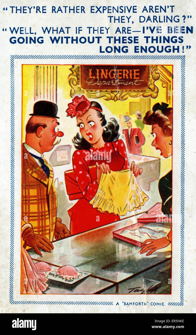 Bamforth Comic Postcard, England. Taylor  1930s - Stock Image