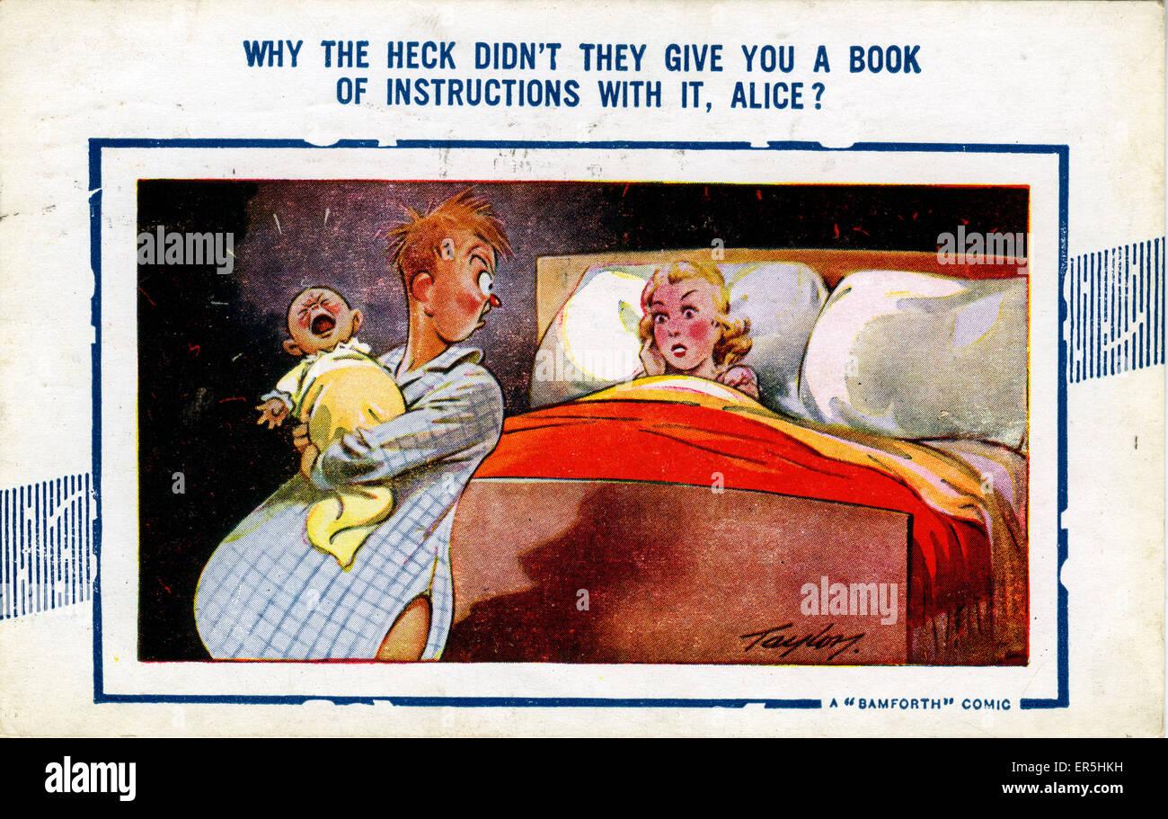 Bamforth Comic Postcard, England. Taylor  1946 - Stock Image