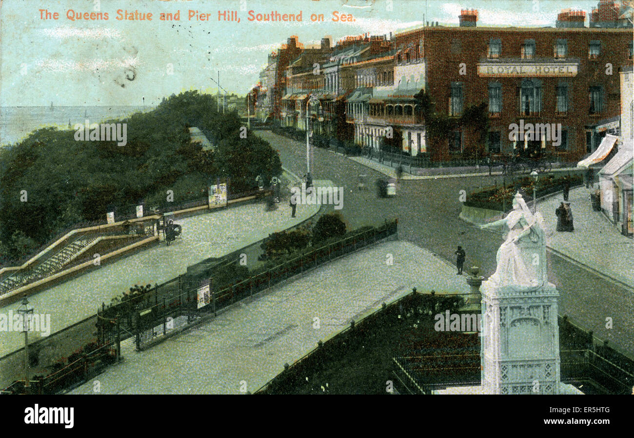 Pier Hill, Southend-on-Sea, Essex, England.  1907 Stock Photo