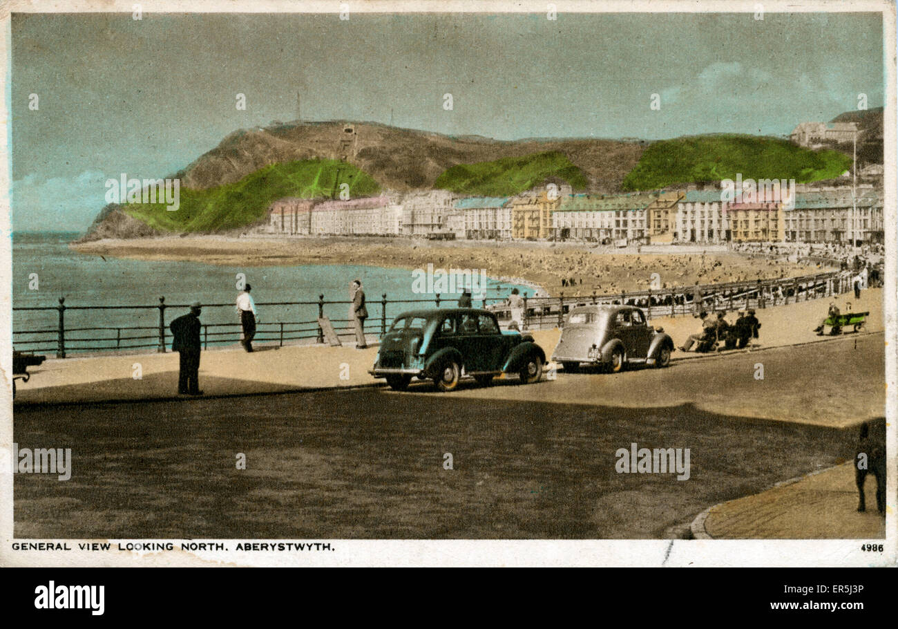 General View, Aberystwyth, Cardiganshire, Wales.  1952 - Stock Image