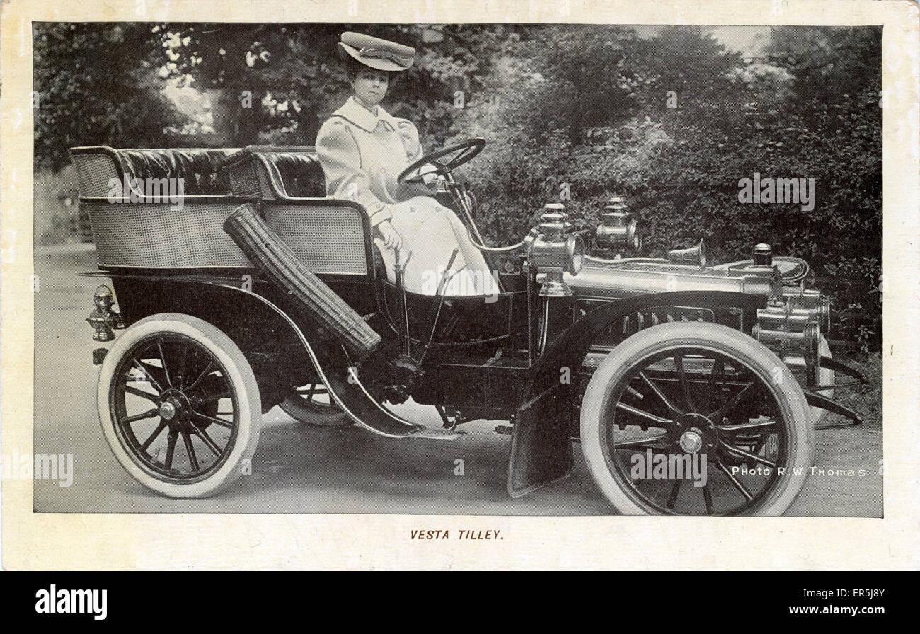 Cl魥nt-Bayard Vintage Car , England. Showing Vesta Tilley Stock ...