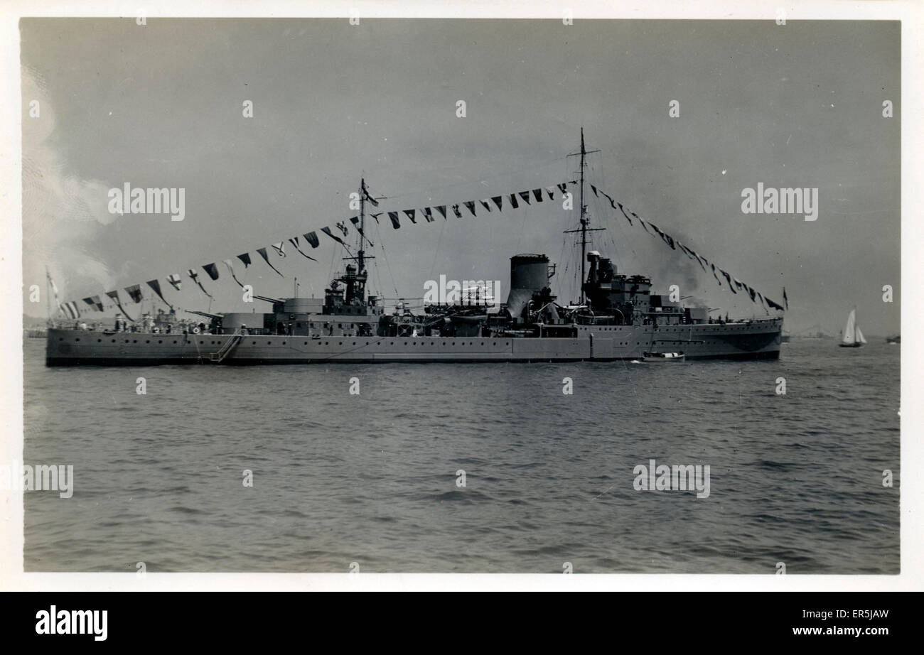 Light Cruiser HMS Achilles, .  1930s - Stock Image