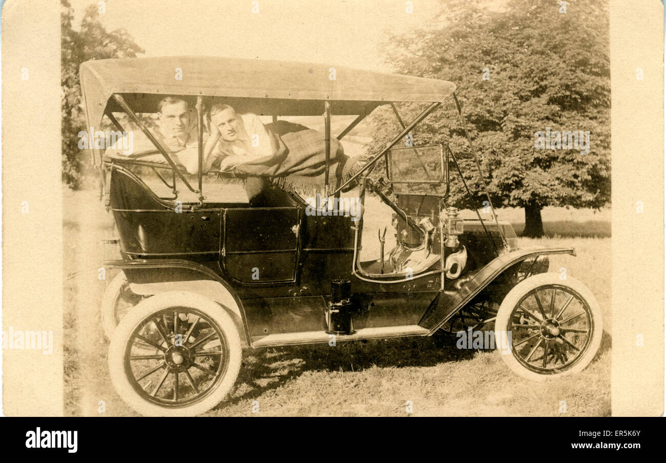 Early Model T Ford Vintage Car, Britain. Swindon registration. 1910s ...